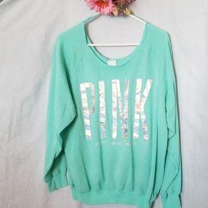 PINK Off-shoulder Sweatshirt Size L